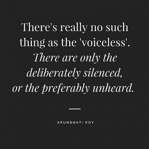 "Arundhati Roy on the ""Voiceless"""