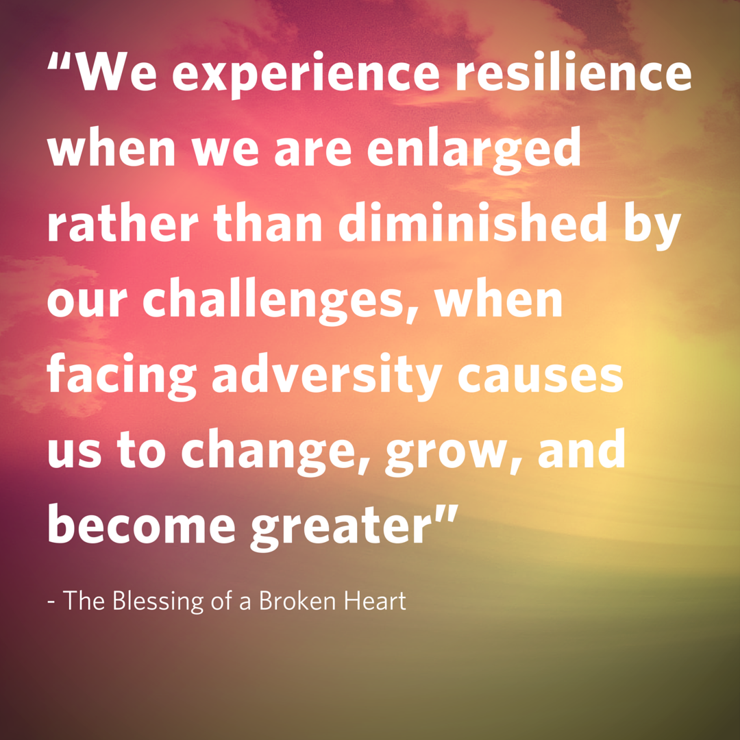 We experience resilience...