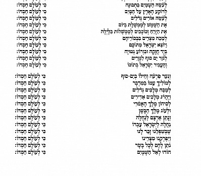 Hallel in Hebrew - page 3