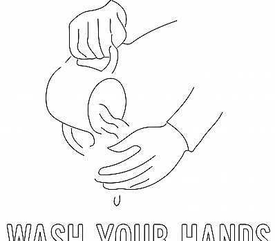 Hand Washing Coloring Page