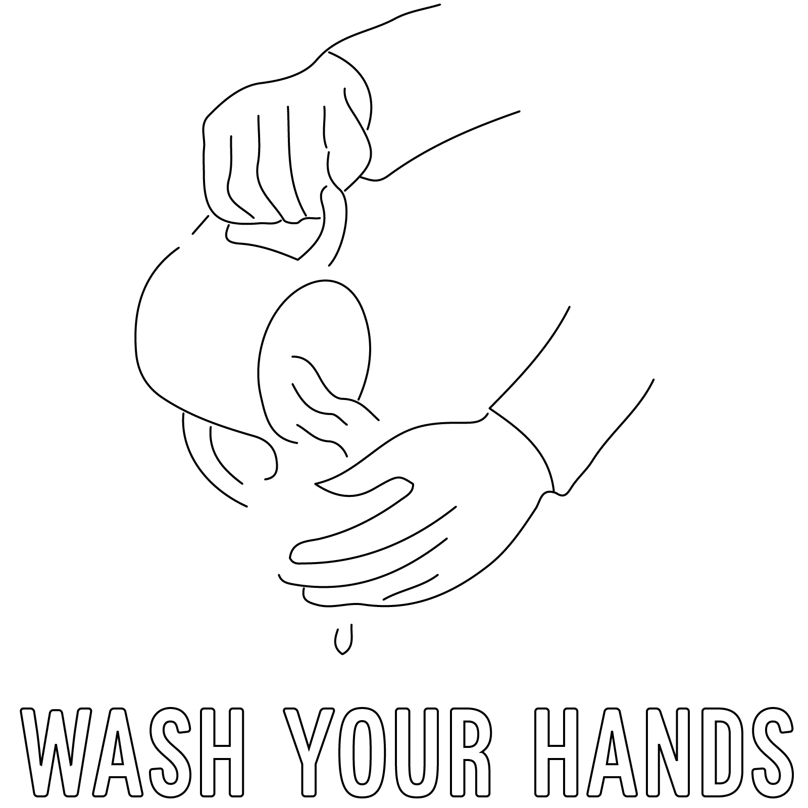 Hand Washing Coloring Page | Make Your Own Passover Haggadah ...