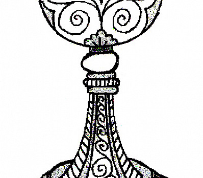Wine Cup Coloring Page