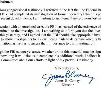 The Comey Letter