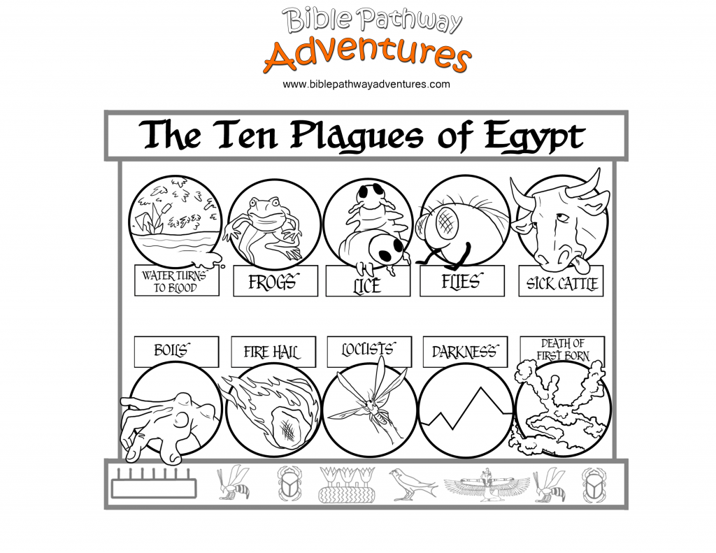 passover plagues coloring pages - photo#9