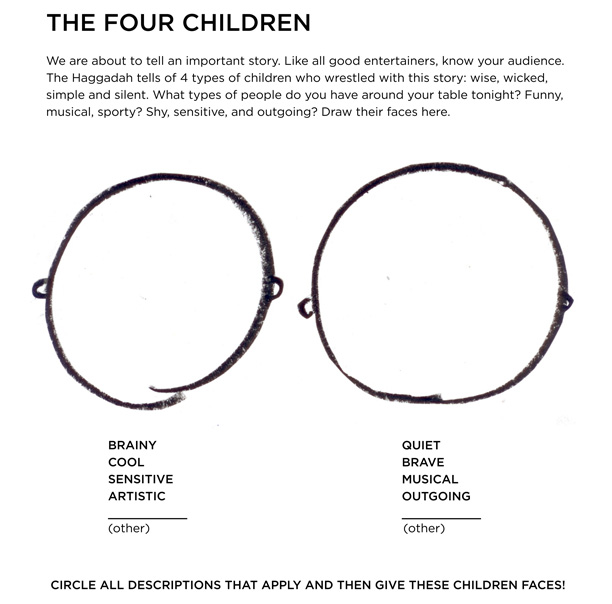Four Children - Drawing Activity