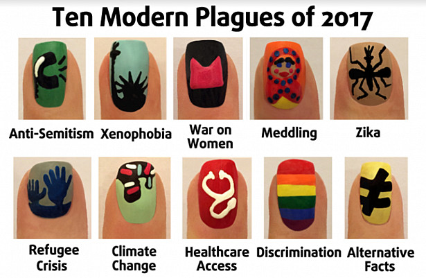 Ten Modern Plagues as Nail Art