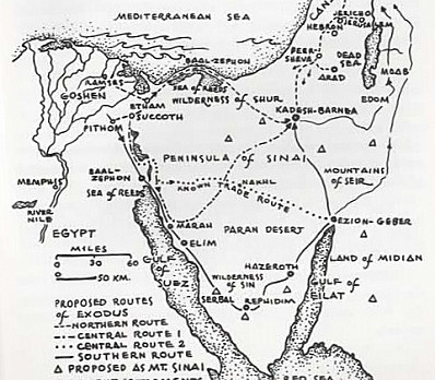 Map of the Exodus