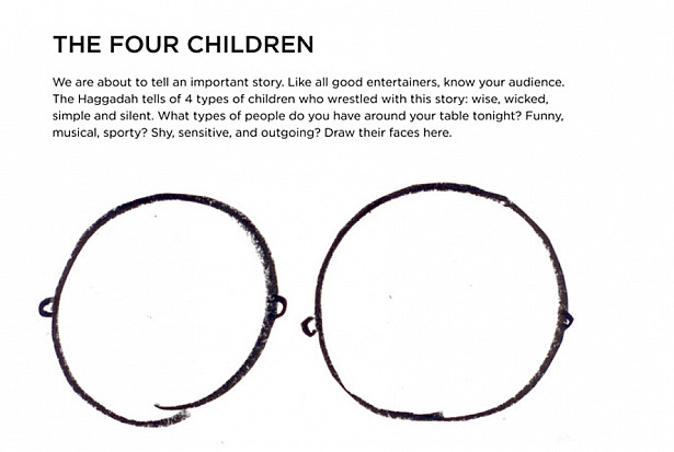 four children drawing