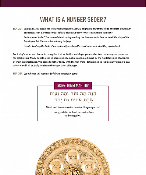 WHAT IS A HUNGER SEDER?