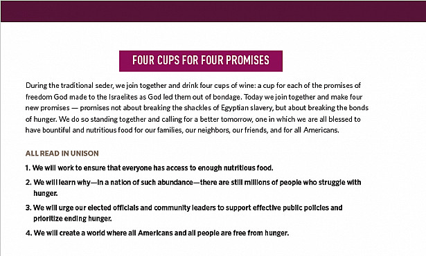 FOUR CUPS FOR FOUR PROMISES