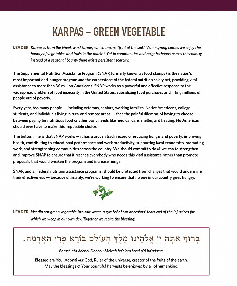 KARPAS – GREEN VEGETABLE