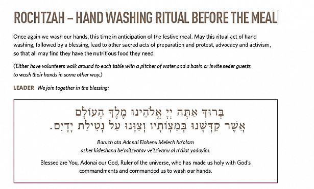 ROCHTZAH – HAND WASHING RITUAL BEFORE THE MEAL