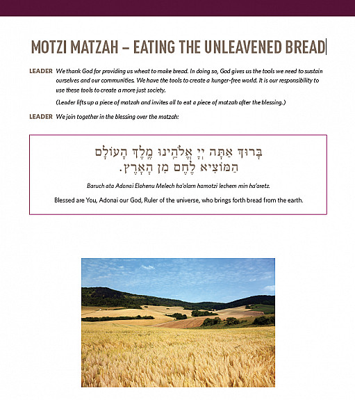 MOTZI MATZAH – EATING THE UNLEAVENED BREAD