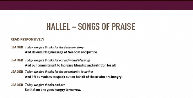 HALLEL – SONGS OF PRAISE