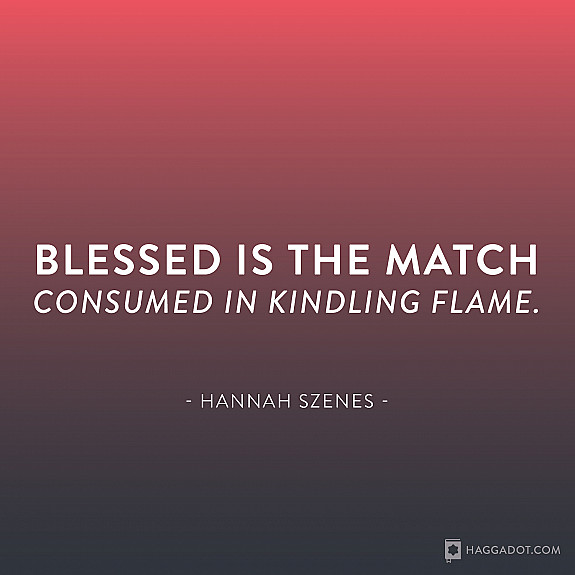 Hannah Szenes, Blessed Is the Match
